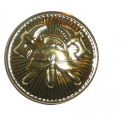 Knoflík zlatý pr. 22mm - našívací
