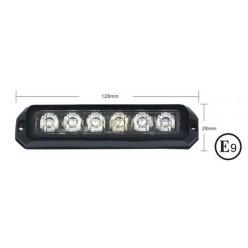 Světlo PREDATOR 6x3W LED, 12-24V, MODRÝ (ECE R10 R65)