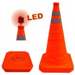 Výstražný kužel skládací TCL 56 cm LED světlo