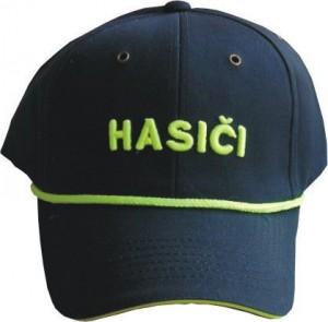 Čepice kšiltovka s nápisem Hasiči vč. reflex šňůrky, 3D nápis