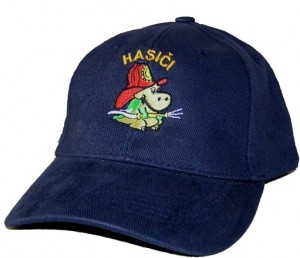 Čepice kšiltovka se soptíkem a nápisem Hasiči